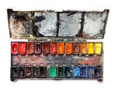 Watercolor paint box — Stock Photo