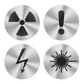Hazard group icons — Stock Photo
