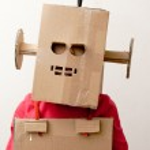 Robot Girl. — Stock Photo