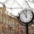 Street clock in snow — Stock Photo #17407079