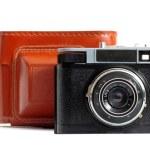 Retro camera and case — Stock Photo #19733745