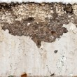 Stock Photo: Large crack in concrete beam