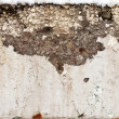 Large crack in the concrete beam — Stock Photo