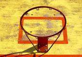 Old basketball hoop without net — Stock Photo