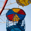 Old Ferris wheel fragment — Stock Photo
