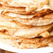 Pancake yellow brown background. — Stock Photo