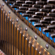 Close up of old inside element piano — Stock Photo