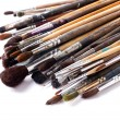 Stock Photo: Paint brushes on white background