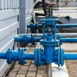 Industrial pipelines and valves — Stock Photo