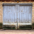 Old garage gate — Stock Photo