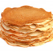 Pancakes isolated on white — Stock Photo