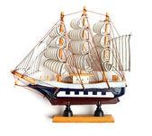 Small wooden ship. — Stock Photo