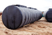 Underground storage tank at a construction site. — Stock Photo