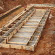 Construction of an industrial building foundation pit — Stock Photo