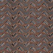 Grunge metal diamond plate. Seamless texture — Stock Photo
