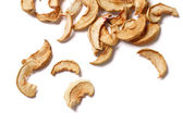 Dried apples, isolated on white background — Stock Photo