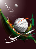 Golf — Vector de stock