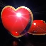 Heart on the black — Stock Photo