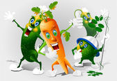 Cartoon vegetables — Stock Photo