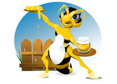 Lady bee — Stockvector