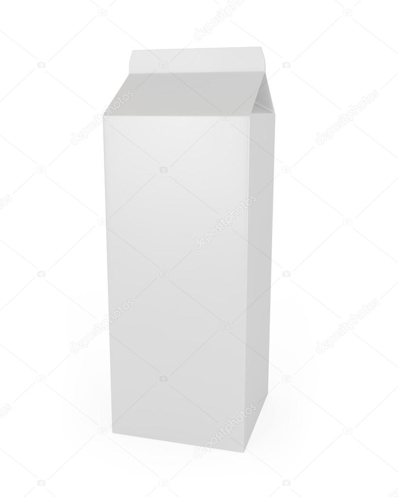 Milk Carton isolated on white - 3d illustration  Stock Photo #12600187