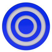 Blue Target isolated on white — Stock Photo