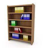 Półka z plików folderów — Zdjęcie stockowe