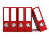 Rosso file cartelle — Foto Stock