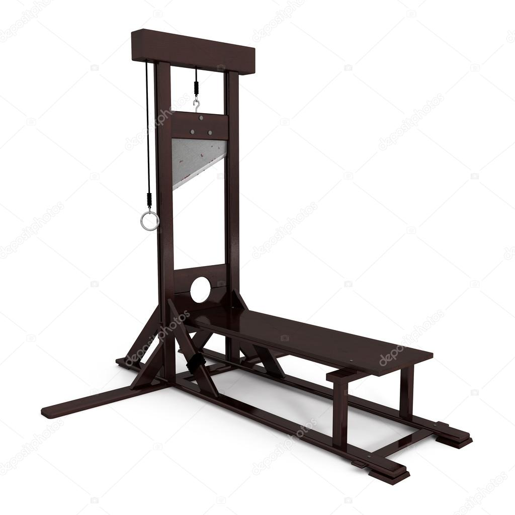 Guillotine isoleted on white - 3d illustration — Stock Photo #13656310