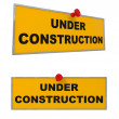 Under Construction sign isolated on white — Stock Photo