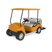 Naranja golf carro coche aislado en blanco — Foto de Stock