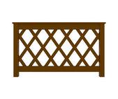 Barandilla de madera con patrón aislado en blanco — Foto de Stock