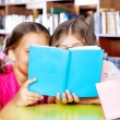 Royalty-Free Stock Photo: Two girls reading a book