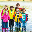Kids in rubber boots — Foto Stock #14208485