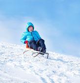 Winter sleighing activity — Stock Photo