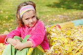 Autumnal girl — Stock Photo