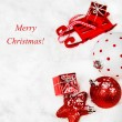 Christmas red and white decoration — Stock Photo #14578785