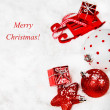 Christmas red and white decoration — Stock Photo