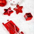 Red Christmas decoration — 图库照片