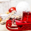 Small Christmas sleigh — Stock Photo