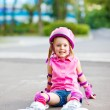 Little roller skater - Stock Photo