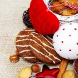 Royalty-Free Stock Photo: Cookies and Christmas decoration
