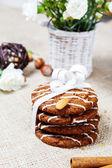 Cookies med festliga band — Stockfoto