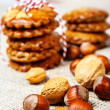 Nuts with cookies — Stock Photo