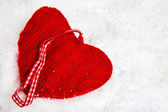 Heart lying in snow — Stock Photo