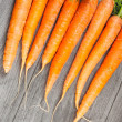 Biological carrots — Stock Photo