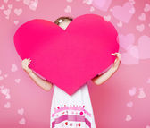 Large paper heart — Stock Photo
