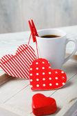 Coffee made with love — Stock Photo