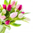 Tulips in vase — Foto Stock