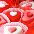 Heart shaped sweets — Stock Photo
